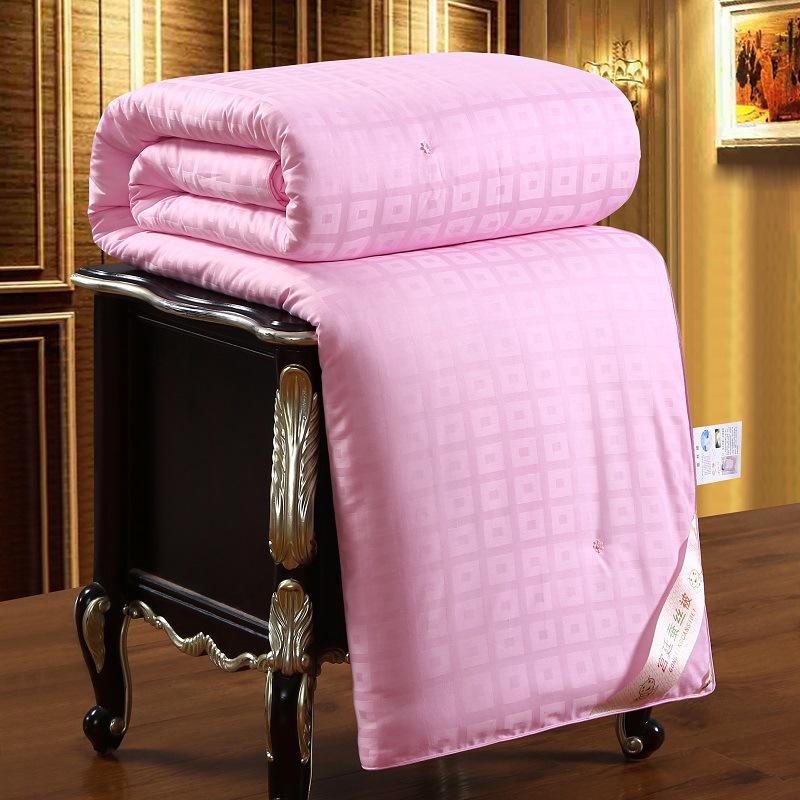 2 (1)厂家批发纯棉提花蚕丝被夏被空调被全棉夏凉被礼品被