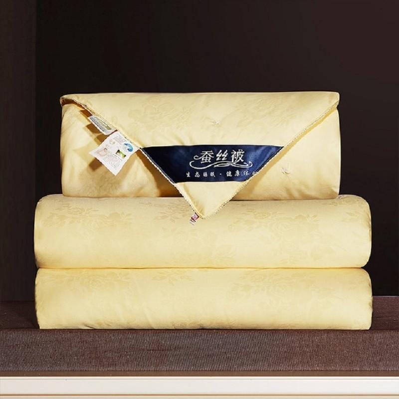 7 (1)60S全棉高档贡缎提花蚕丝空调夏凉被纯棉秋冬被子母被高端礼品被